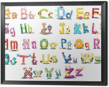 Obraz w Ramie Znaków alfabetu