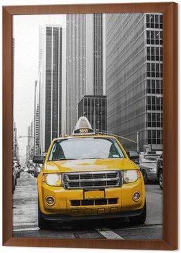 Obraz w Ramie Żółta taksówka w Nowym Jorku