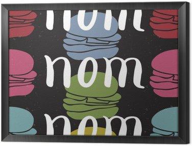 Obraz w Ramie Żywność typograficzny karty cytat
