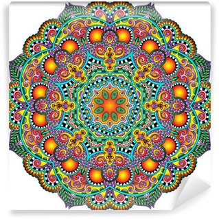 Omyvatelná Fototapeta Circle krajka ornament, kolo okrasných geometrický ubrousek vzor