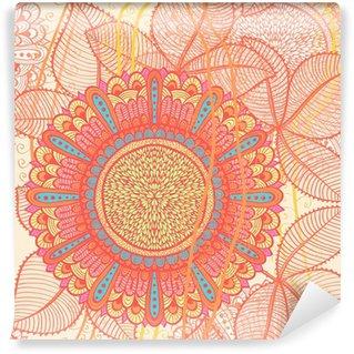 Omyvatelná Fototapeta Elegantní ručně tažené bezešvé retro růžové květinové pozadí. Eps10