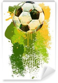 Omyvatelná Fototapeta Fotbalový míč Banner .__ Všechny prvky jsou v samostatných vrstvách a seskupeny. __