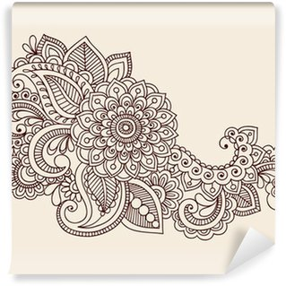 Omyvatelná Fototapeta Henna Anstract květiny Paisley design Element Vector