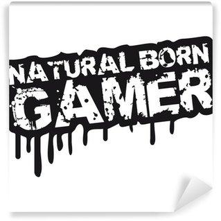 Omyvatelná Fototapeta Natural Born Gamer Stempel Graffiti