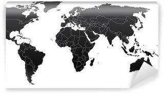 Omyvatelná Fototapeta Politická mapa světa