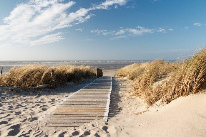 Omyvatelná Fototapeta Severní moře pláž v Langeoog - Moře a oceán