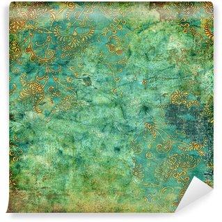 Omyvatelná Fototapeta Zelená rezavé vintage textury