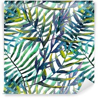 Listy abstraktní vzor pozadí tapety akvarel