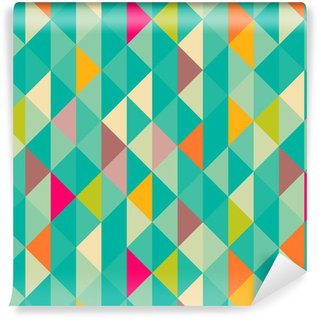 Papel de Parede em Vinil Abstract geometric seamless pattern