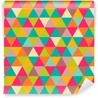 Papel de Parede em Vinil Abstract geometric triangle seamless pattern