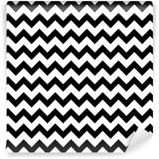 Papel de Parede em Vinil Abstract geometric zigzag seamless pattern. vector