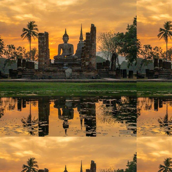 Papel de Parede em Vinil Buddha statue in Wat Mahathat temple, Sukhothai Historical Park, - Temas