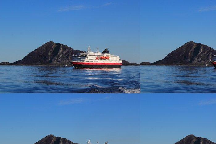 Papel de Parede em Vinil coastal ship on the coast of Northern Norway - Europa