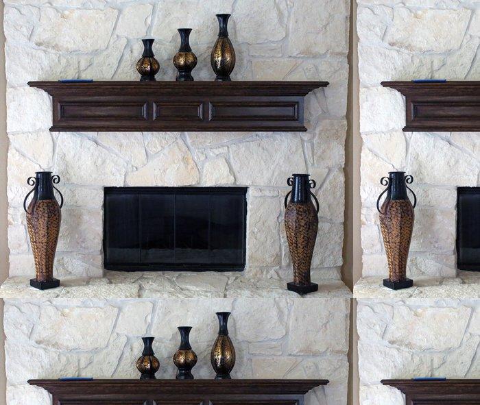Papel de Parede em Vinil Fireplace - Indústria Pesada