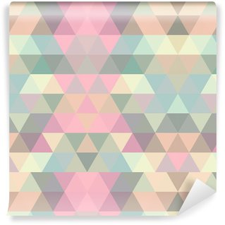 Papel de Parede em Vinil Mosaic triangle background. Geometric background