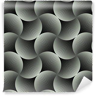 Papel de Parede em Vinil Ornate Geometric Petals Grid, Abstract Vector Seamless Pattern