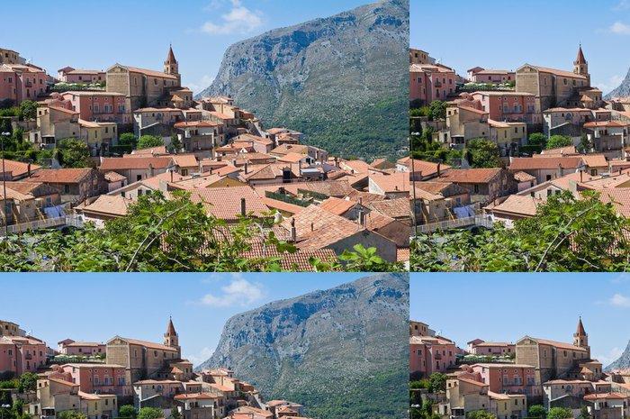 Papel de Parede em Vinil Panoramic view of Maratea. Basilicata. Italy. - Feriados