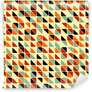 Papel de Parede em Vinil Retro abstract seamless pattern with triangles