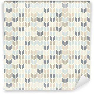 Papel de Parede em Vinil Seamless geometric pattern in pastel tints