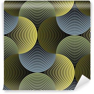 Pixerstick Papel Pintado Adornado geométrica Pétalos de cuadrícula, Extracto Modelo inconsútil del vector