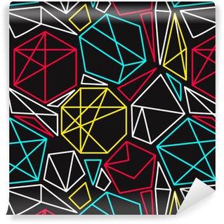 Pixerstick Papel Pintado Concepto de CMYK del vector sin fisuras patrón geométrico en colores vivos