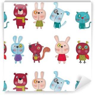 Pixerstick Papel Pintado Conjunto de animales de dibujos animados