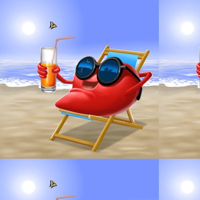Papel Pintado Estándar Corazón en vacaciones - Vacaciones