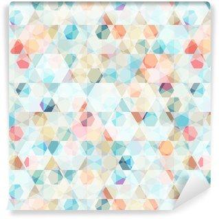 Pixerstick Papel Pintado Diamante de células patrón transparente