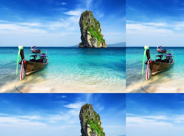 Papel Pintado Estándar El agua clara y el cielo azul - Asia
