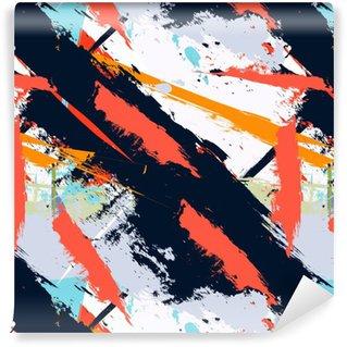 Pixerstick Papel Pintado Grunge del arte abstracto patrón transparente en dificultades