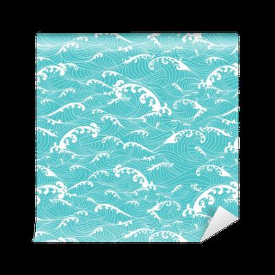 Papel pintado las olas del oc ano el modelo de barras de - Papeles pintados lavables ...