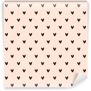 Pixerstick Papel Pintado Patrón de corazón sin fisuras