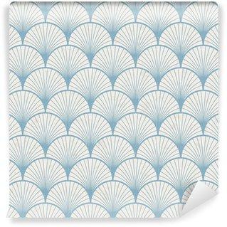 Pixerstick Papel Pintado Textura transparente de patrón japonés retro