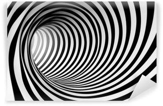 Papier Peint Vinyle 3d abstrait en spirale en noir et blanc