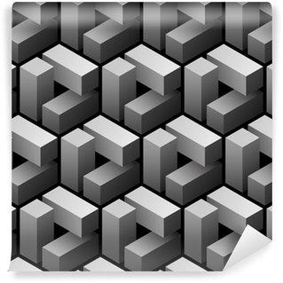 Papier Peint Vinyle 3d seamless pattern