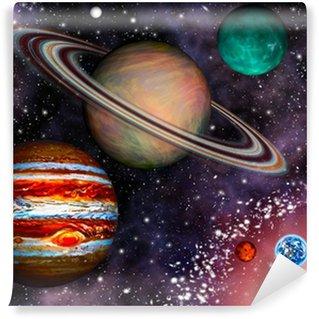 Papier Peint Vinyle 3D Solar System Wallpaper