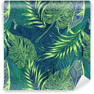 Papier Peint à Motifs Vinyle Plantes tropicales