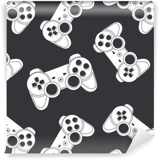 Papier Peint à Motifs Vinyle Vecteur de joystick sans soudure