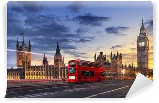 Papier Peint Vinyle Abbaye de Westminster Big Ben à Londres