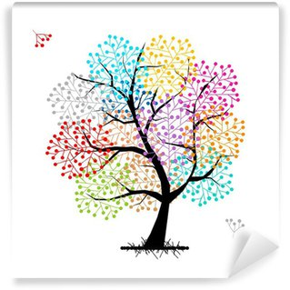 Papier Peint Vinyle Abstract tree for your design