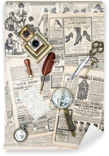 Papier Peint Vinyle Accessoires antiques et magazine de mode vintage