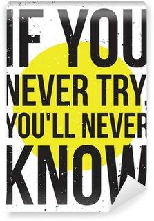 Papier Peint Vinyle Affiche de motivation de l'inspiration. Grunge