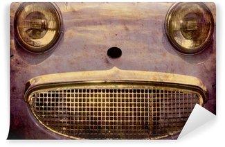 Papier Peint Vinyle Affiche rétro - visage de voiture