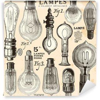Papier Peint Vinyle Ampoule électrique