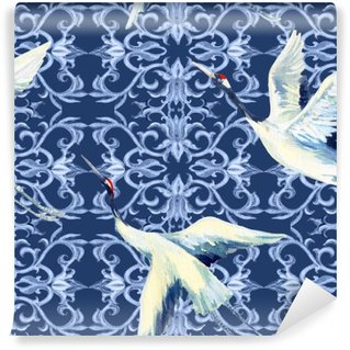 Papier Peint Vinyle Aquarelle chinoise seamless