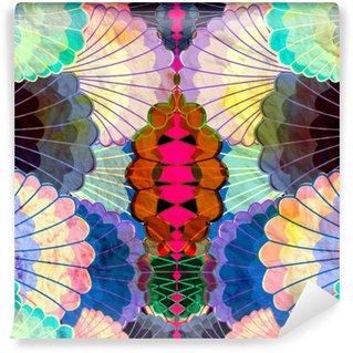 Papier Peint Vinyle Aquarelle éléments abstraits multicolores