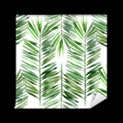 papier peint aquarelle palme feuille d 39 arbre transparente. Black Bedroom Furniture Sets. Home Design Ideas