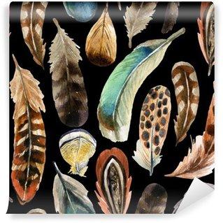 Papier Peint Vinyle Aquarelle plume fond
