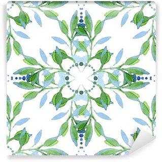 Papier Peint Vinyle Aquarelle Seamless floral