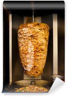 Papier Peint Vinyle Arabe poulet Spit cuisine Shawarma viande